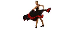 Tanečné oblečenie Dospelí Flamenco oblečenie