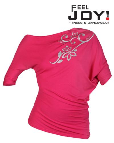 Fitness/DanceFitness & Zumba Dámska kolekcia Tričká  Feel JOY! Dámske Tanečné Tričko Modern - Malinová