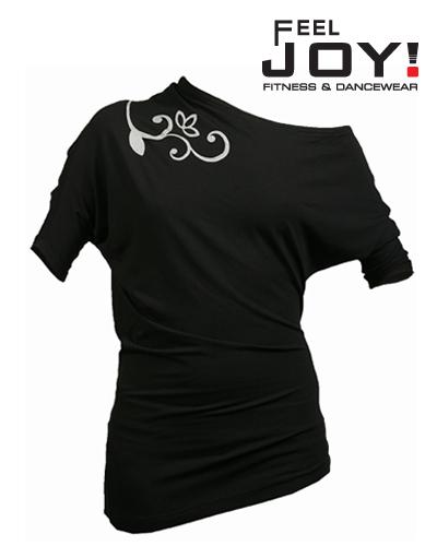 Fitness/DanceFitness & Zumba Dámska kolekcia Tričká  Feel JOY! Dámske Tanečné Tričko Modern - Čierna