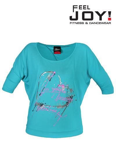 Fitness/DanceFitness & Zumba Dámska kolekcia Tričká  Feel JOY! Dámske Tričko Open - Akvamarín
