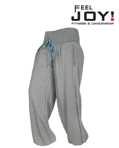 Fitness/DanceFitness & Zumba Dámska kolekcia Nohavice  Feel JOY! Tanečné tepláky Flow 1 - šedá