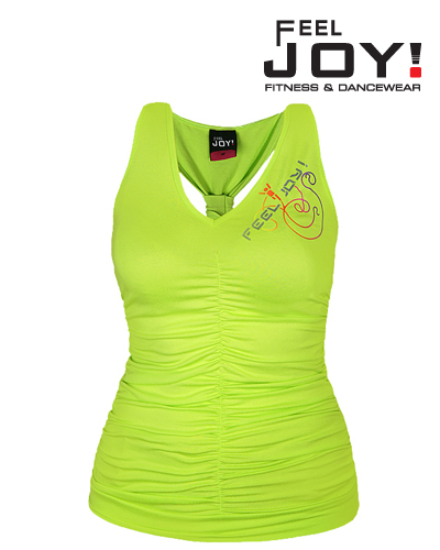 Fitness/DanceFitness & Zumba Dámska kolekcia Topy  Feel JOY! Top Funky - Citronová