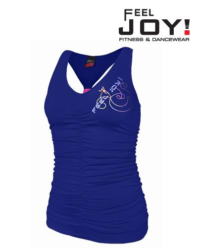 Fitness/DanceFitness & Zumba Dámska kolekcia Topy  Feel JOY! Tanečný Top Funky Modrá