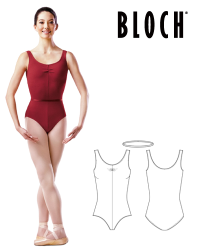 Tanečné oblečenie Dospelí Baletné oblečenie Dresy BLOCH LADIES ROUCHE FRONT TANK LEOTARD