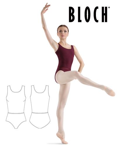 Tanečné oblečenie Dospelí Baletné oblečenie Dresy BLOCH LADIES TANK LEO WITH BELT