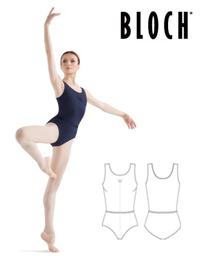 Tanečné oblečenie Dospelí Baletné oblečenie Dresy BLOCH LADIES TUCK FRONT TANK LEO WITH BELT