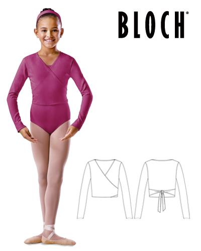 Tanečné oblečenie Deti Baletné oblečenie Svetríky, overaly a štucne BLOCH CHILD'S LONG SLEEVE WRAP TOP