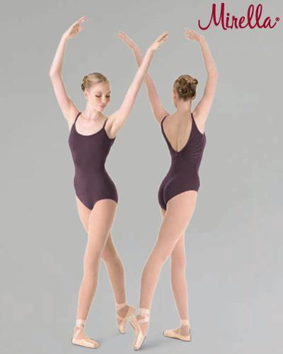 Tanečné oblečenie Dospelí Baletné oblečenie  MIRELLA DEEP V KNOT BACK LEOTARD