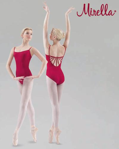 Tanečné oblečenie Dospelí Baletné oblečenie  MIRELLA ELASTIC SUNRAY BACK CAMISOLE LEOTARD