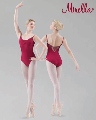 Tanečné oblečenie Dospelí Baletné oblečenie  MIRELLA ELASTIC WEAVE BACK CAMISOLE LEOTARD