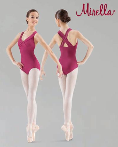Tanečné oblečenie Dospelí Baletné oblečenie  MIRELLA INTERLACED STRAP LEOTARD