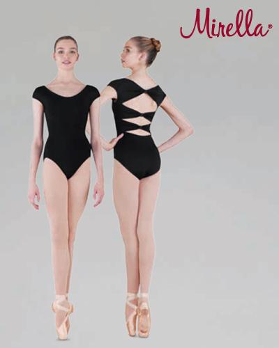 Tanečné oblečenie Dospelí Baletné oblečenie  MIRELLA CAP LEOTARD WITH BOW BACK AND DIAMANTE CLUSTERS