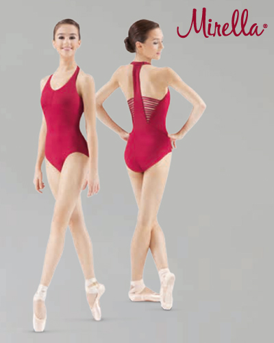 Tanečné oblečenie Dospelí Baletné oblečenie  MIRELLA HALTER LEOTARD WITH ELASTIC BACK DETAIL